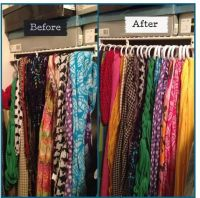 Dollar Tree DIY to organize your scarves If you do not ...