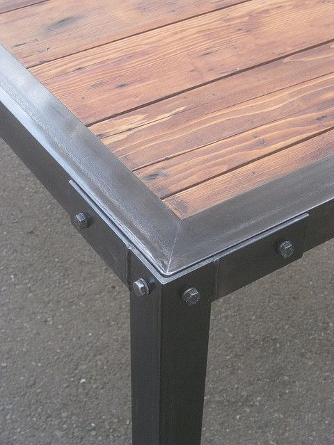 Couchtisch Cool Slat Dining Closeup | Wood Insert, Patio Table And Metals