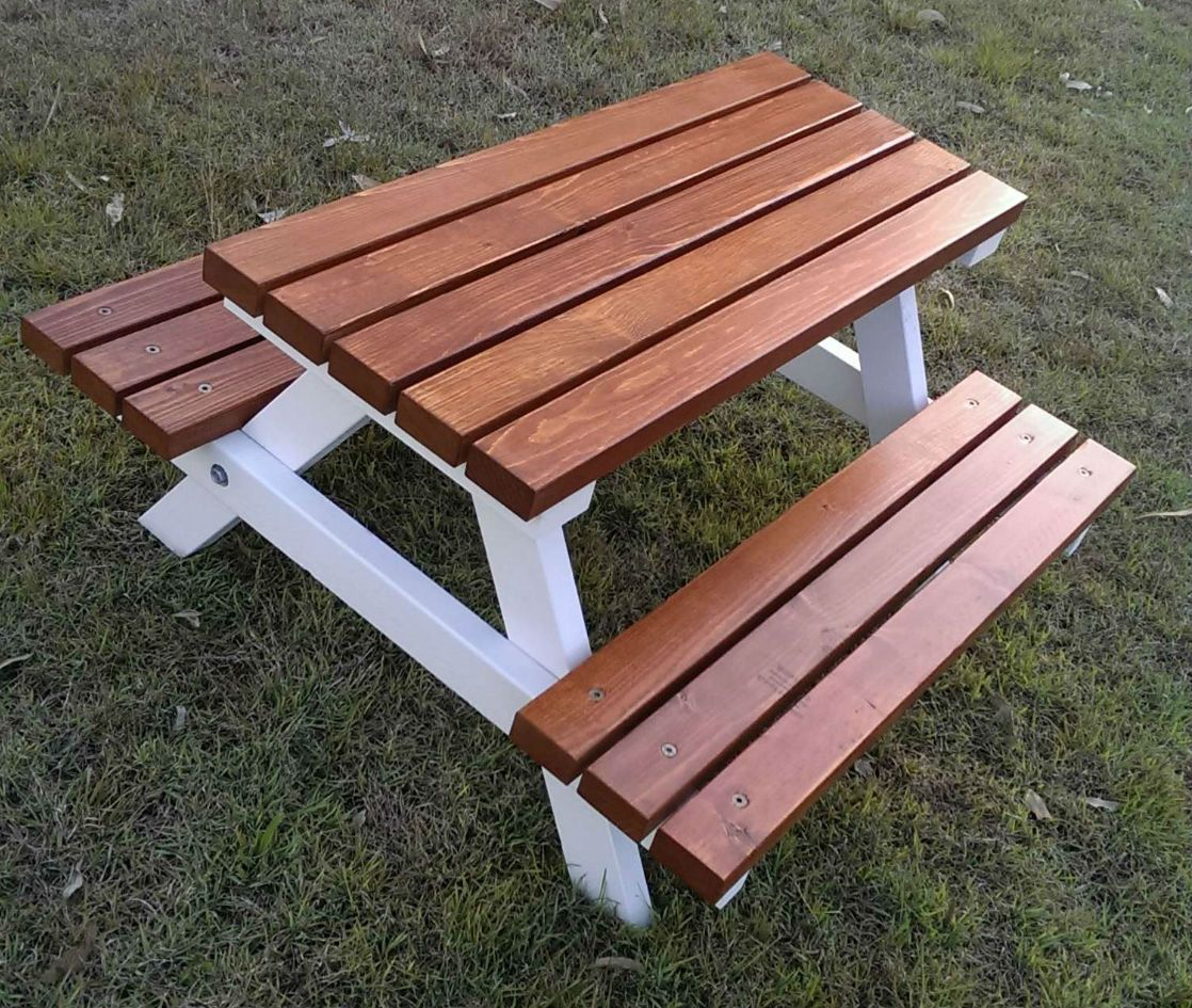 Outdoor Timber Table 1 5 Years Quality Handmade Kid 39s Timber Picnic Table