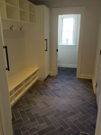 Mudroom / Powder Room flooring. Slate tile done in the ...