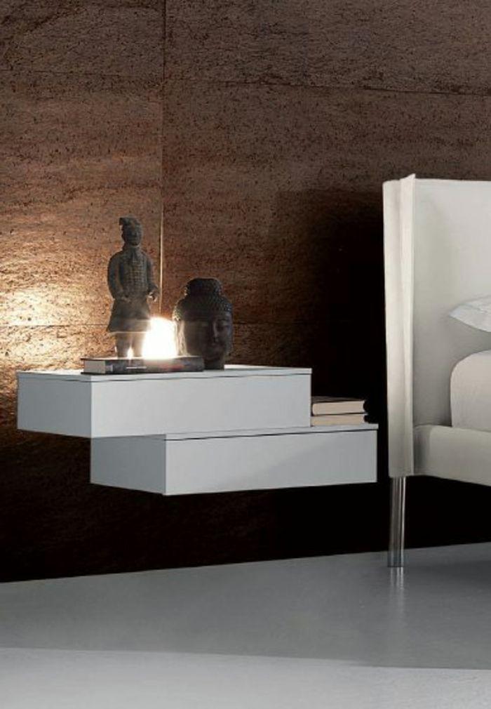 Nachtisch zum Einhängen weiß und braun wand Traumhaftes - designer nachttische schlafzimmer