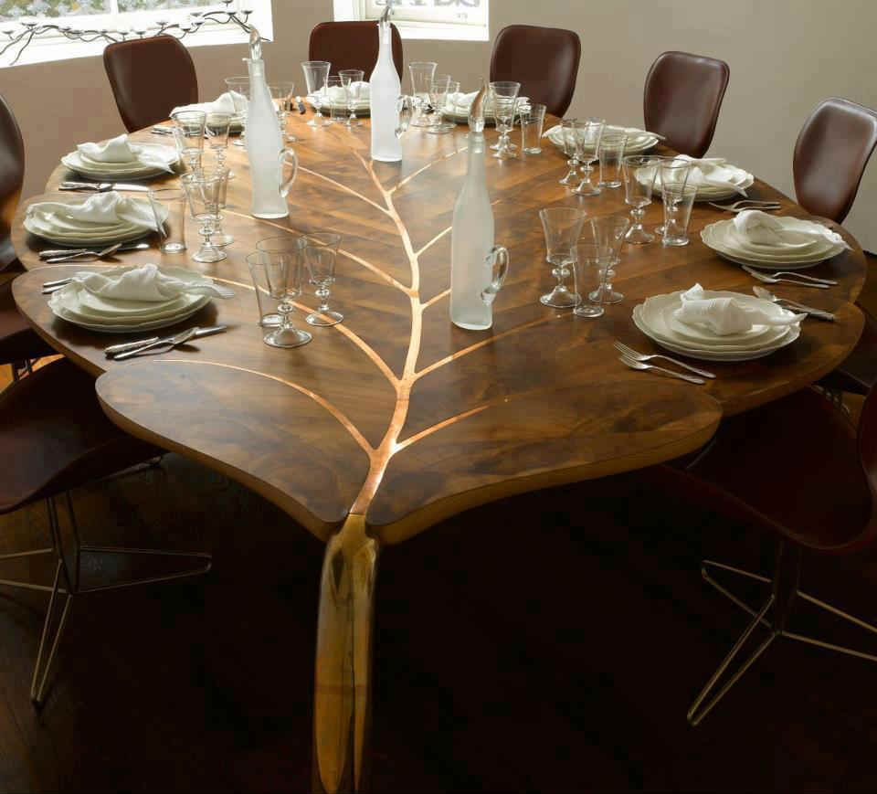 kitchen table designs leaf shaped dining table set PICTRENDS