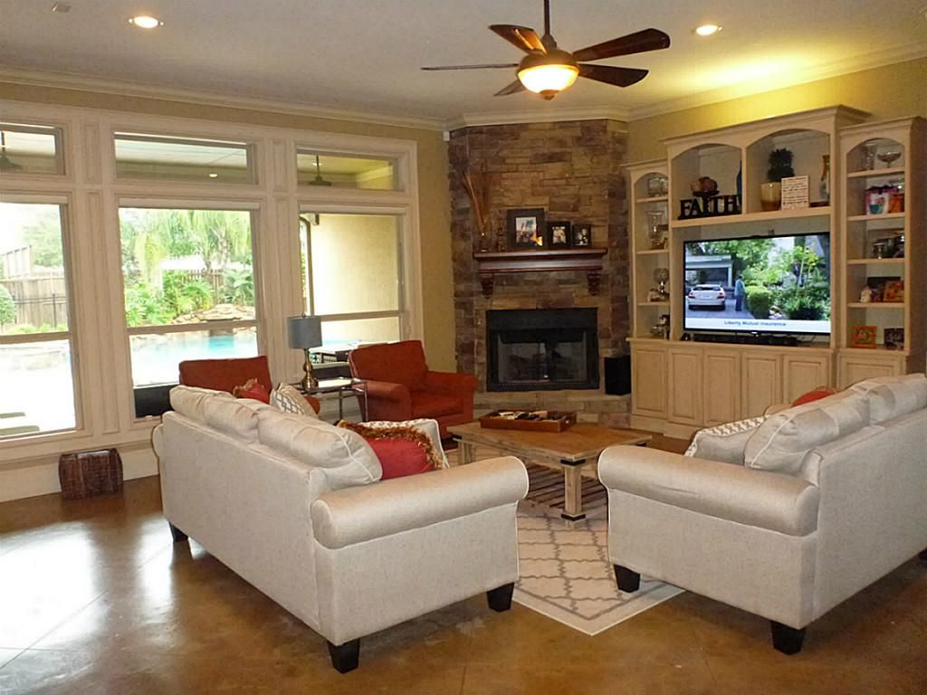 Find this pin and more on remodeling family room ideas corner stone fireplace
