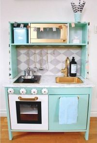 Ikea Duktig play kitchen makeover, mint | kid rooms ...