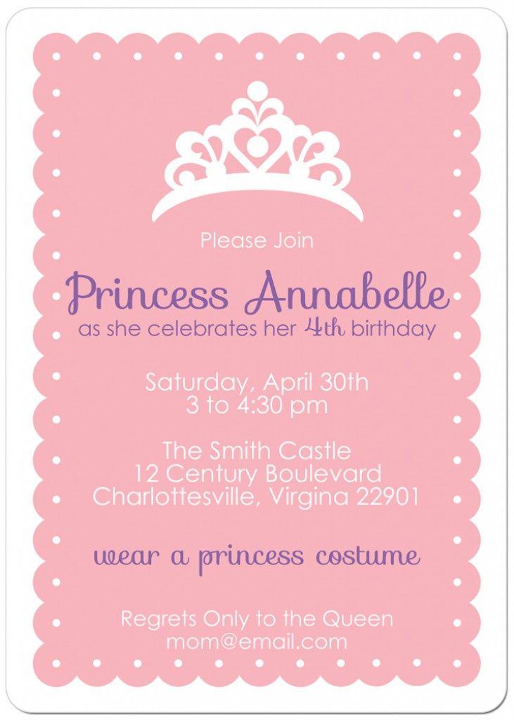 Free Printable Princess Tea Party Invitations Templates 2 Paige - free birthday invitations to print