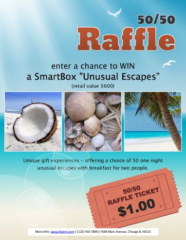 Unusual Escapes Raffle Flyer Template fundraiser Pinterest - microsoft templates for flyers