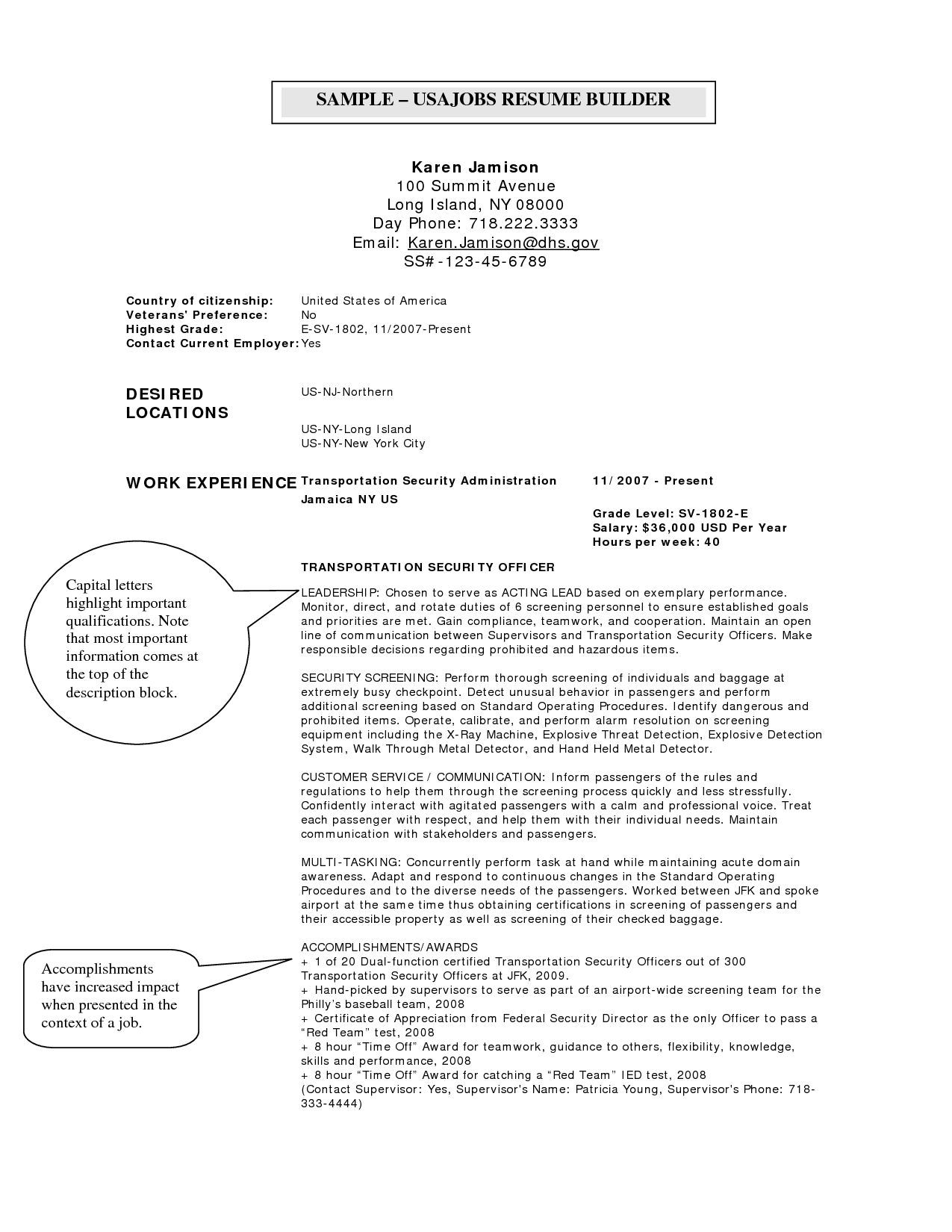 resume cover letter template for usajobs
