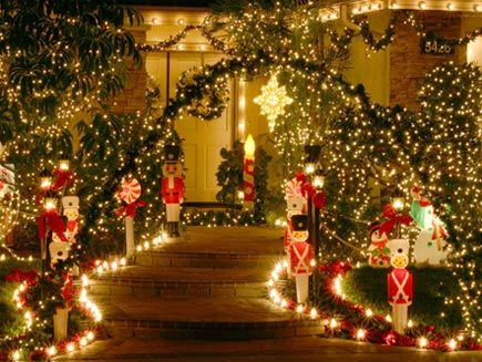 Top Christmas Light Displays Christmas, Outdoor christmas and - christmas decorations outside