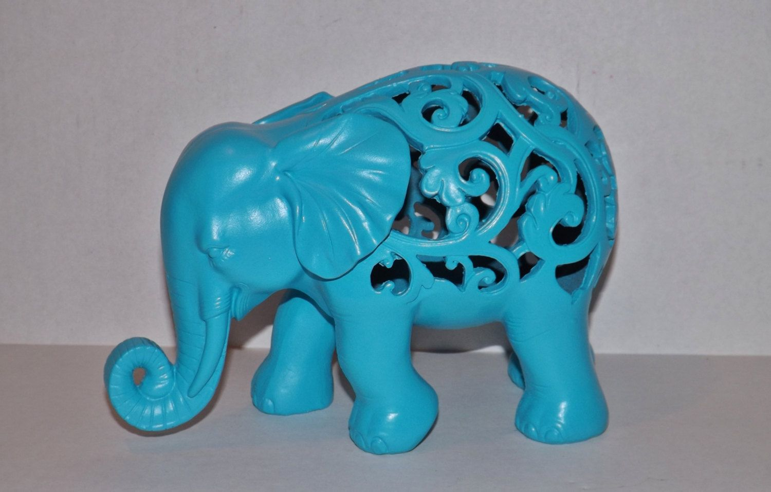 Animal Figurines Home Decor Elephant Turquoise Blue Elephant Statue Figurine