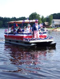 Roscommon, MI - Lake James 4th of July boat parade 2013 ...