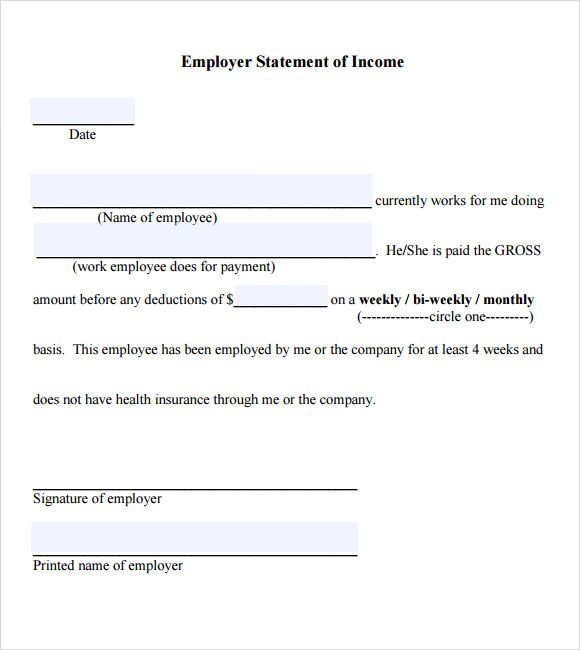 How To Write A No Income Verification Letter Cover Templates - income verification form