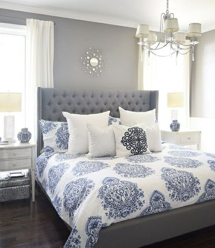 Bett mit minimalistisch grauem design bilder  Gestaltung Schlafzimmer Platz Bett. die besten 25+ stilvolles ...