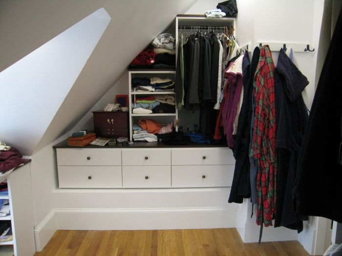 reach in closets slanted roof