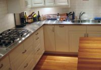 Modern Kitchen With Stainless Steel Countertops The 1st ...
