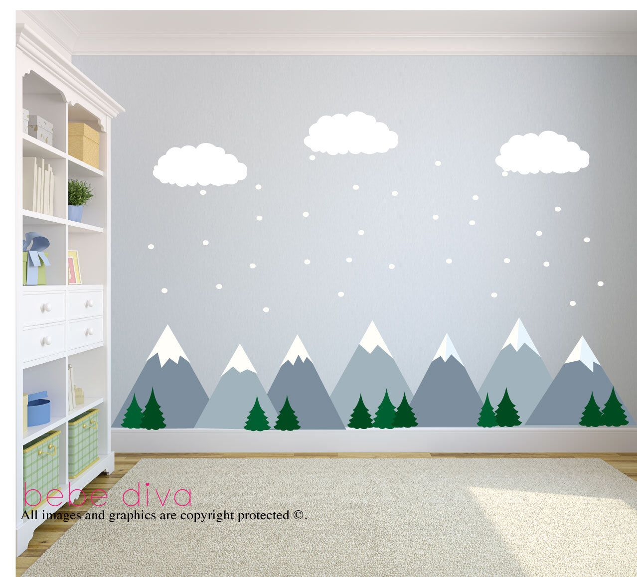 Walls For Kids Mountain Wall Decals Wall Decals Nursery Baby Wall Decal