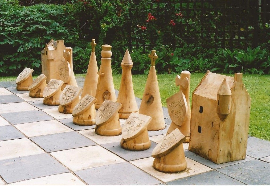 Diy Wood Chess Board Diy Outdoor Chess Pieces Google Search Landscape