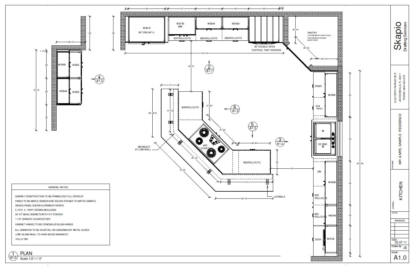 Kitchen Floor Plans For Small Kitchens Sample Kitchen Floor Plan Shop Drawings Pinterest