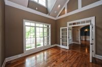 molding on vaulted ceilings - Google Search   plant shelf ...