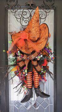 Halloween Wreath, Halloween Door Hanger, Fall Wreath, Door ...