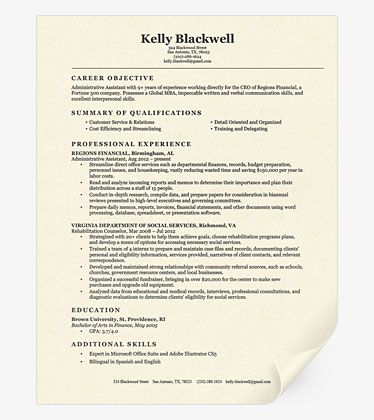 most effective resume format
