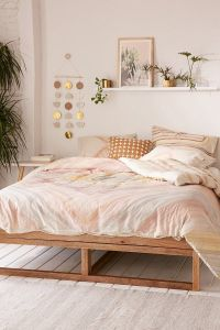 Bedroom with pink bedding from Urban Outfitters | BEDROOM ...