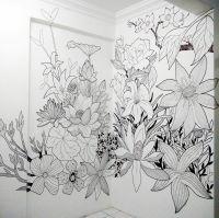 Sharpie Floral Mural Art | Mural Art | Pinterest | Mural ...