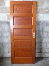 Antique Craftsman Style Interior Door - Circa 1910 Fir ...