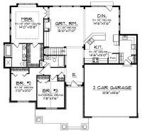 open concept floor plan for ranch with spacious : Interior