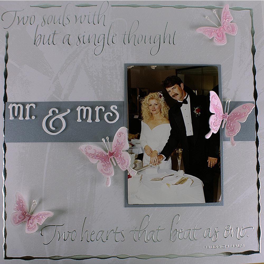 Mr and mrs wedding scrapbook layout