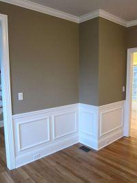 Interior shadow box wall moldings and chair rail trim in a ...