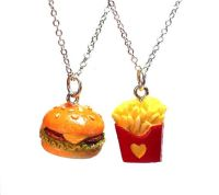 Best Friends Necklaces - BFF Cheeseburger and French Fries ...