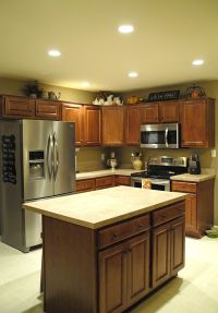 Recessed lighting in kitchen, living room, hallways, and ...