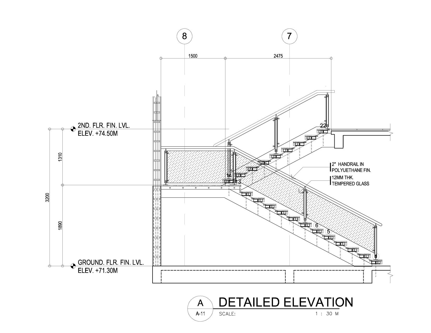 Staircase Plans Drawing A Modern Cantilever Staircase In Steel And Wood