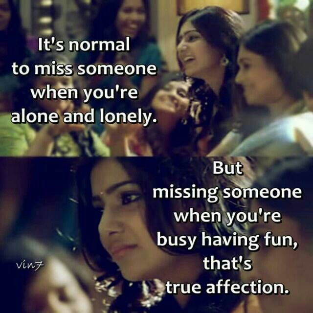 Raja Rani Hd Wallpapers With Quotes It S Normal To Miss Someone When You Re Alone And Lonely