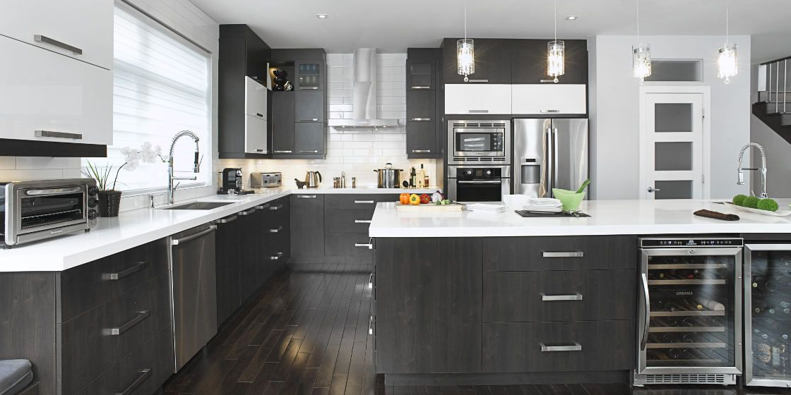 Color Schemes Kitchens With Gray Cabinet Armoires De Cuisine 2 Couleurs - Recherche Google