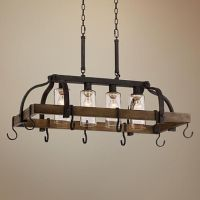 "Eldrige 36 1/2"" Wide 4-Light Bronze Pot Rack Chandelier ..."