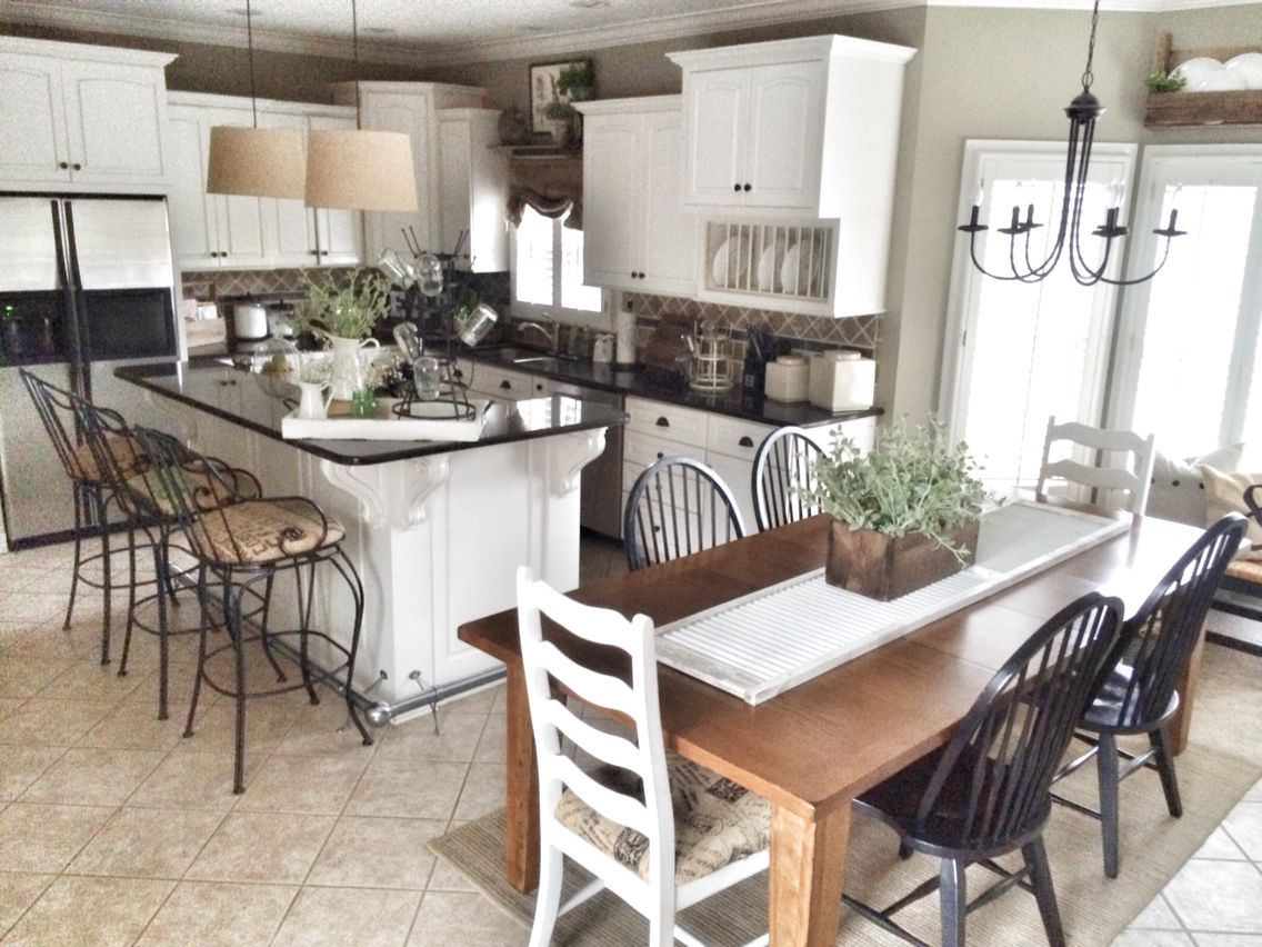 Farmhouse Style Table Runners Farmhouse Kitchen Bless This Nest Blog Pinterest