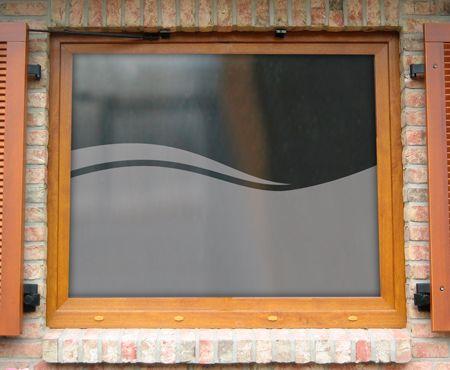 Das Motiv Welle wird gerne fürs Badezimmer verwendet Denn die - badezimmer fensterfolie