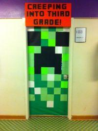 Minecraft Creeper Door, End of the year door, school ...