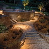 retaining wall lighting - Cutare Google | retaining walls ...
