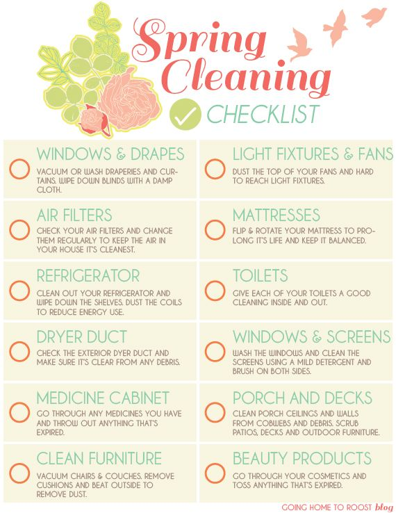 Spring cleaning printable checklist Home Manage Binder {free - spring cleaning checklist