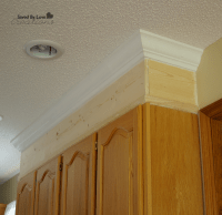 take cabinets to ceiling with crown moulding! So important ...