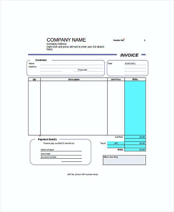 Blank Self Employed Invoice templates , Work Invoice Template - pay invoice template