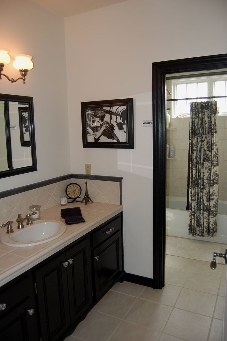 French toile bathroom curtain french country bathroom in black white inspired by