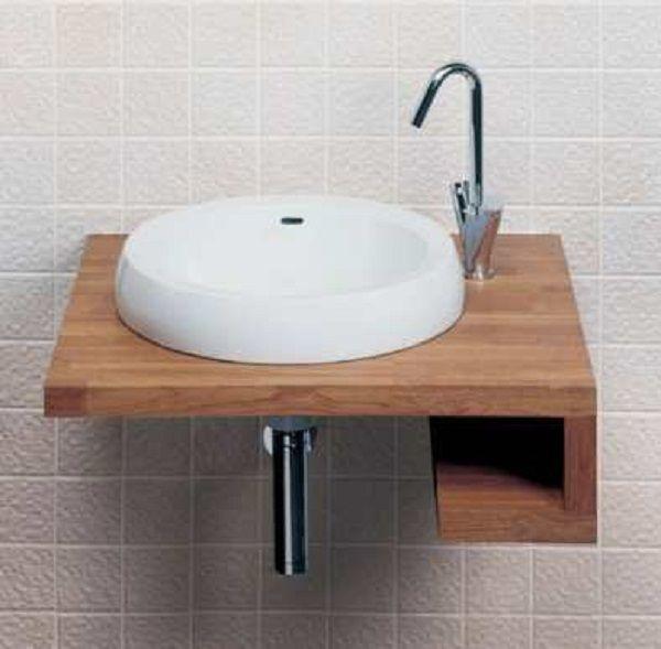 Corner Bathroom Sinks Lucerne Wallmount Bathroom Sink In White - small bathroom sink ideas