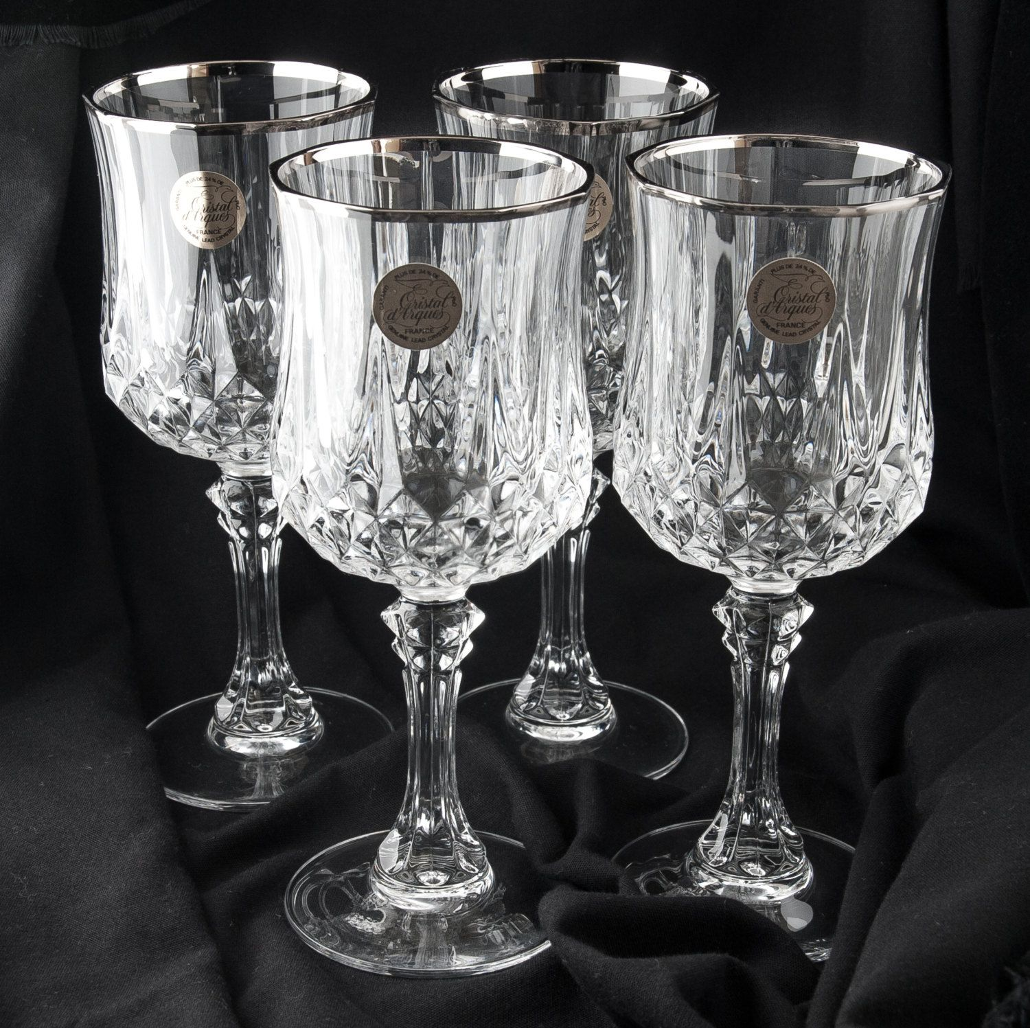Crystal Stemware Wine Glasses Crystal Water Wine Goblets Cristal D 39arques France