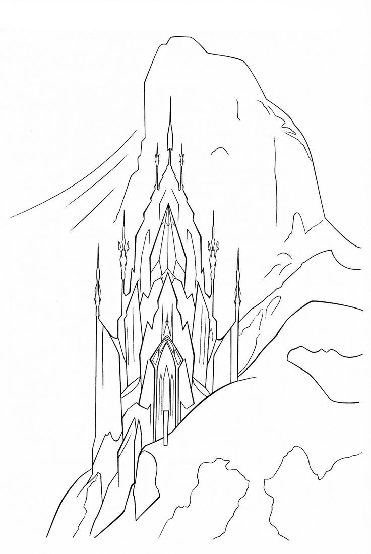 Disney frozen ice palace coloring pages