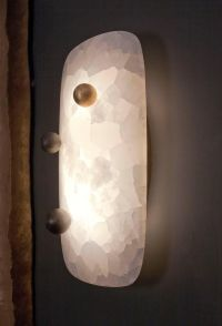 """""""Pillow"""" Sconce in Onyx and Bronze by Achille Salvagni ..."""