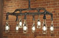 Industrial Plumbing Pipe Beer Bottle Light Fixture by ...
