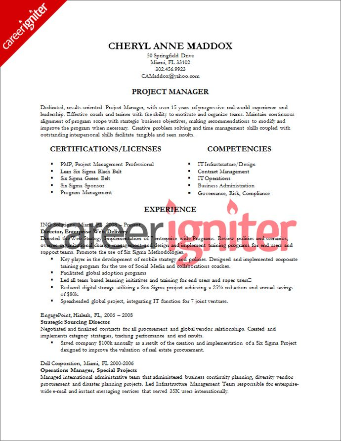 Project Coordinator Resume Example - http\/\/wwwresumecareerinfo - project coordinator resume